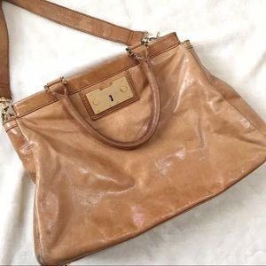 Tory Burch Tan Leather Shoulder Bag Purse Womens